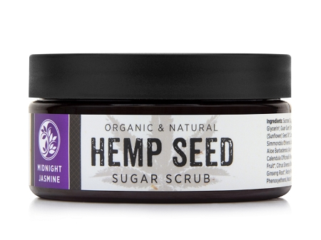 MIDNIGHT JASMINE HEMP SEED SUGAR SCRUB